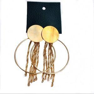 Free People Jewelry - NWT Free People Collins Fringe Hoop Earrings